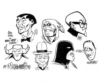 Alex Toth Model Sheet Studies